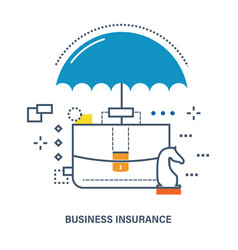 Concept of business insurance deposit protection vector