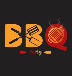bbq logo vector image