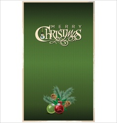 Christmas green banner vector image