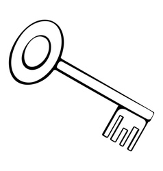 Black and white outline of the key vector