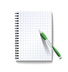 Notebook with a pen vector image