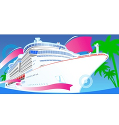 Luxury cruise vector