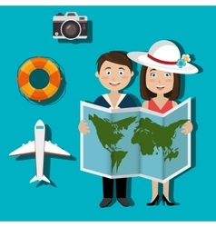 Summer travel and vacation vector