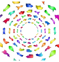abstract arrows circle vector image vector image