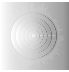 Abstract gray circles with shadow infographic vector image vector image