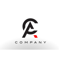 Ac logo letter design vector