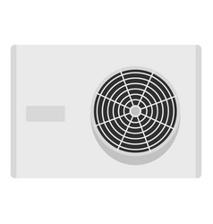 Air conditioner compressor unit icon isolated vector
