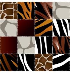 Animal patchwork vector