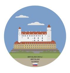 Bratislava castle vector
