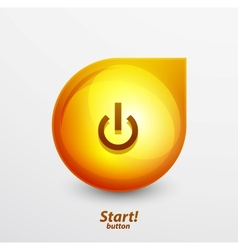 Bright power button vector image