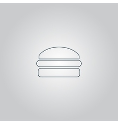 Burger icon vector