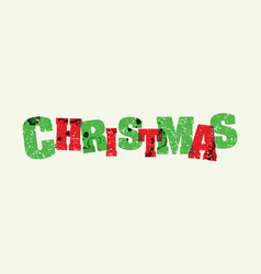 Christmas concept stamped word art vector