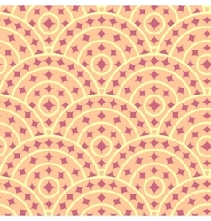 Cirlce With Ruby Shape Seamless Pattern vector image vector image