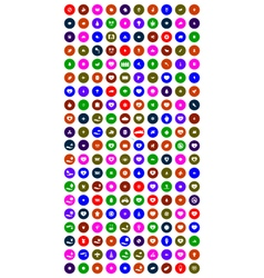 collection of 200 universal icons vector image vector image