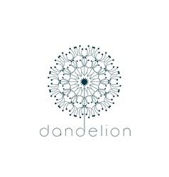 Dandelion symbol vector image