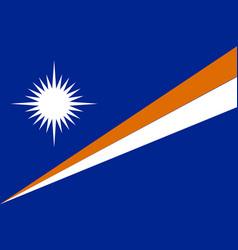 Flag marshall islands flat style vector