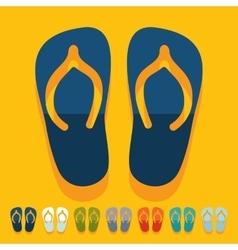Flat design slippers vector