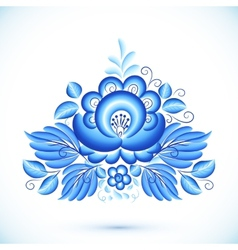 floral element in gzhel style vector image vector image