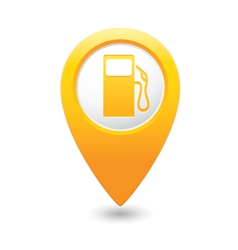 Gas station map pointer yellow vector