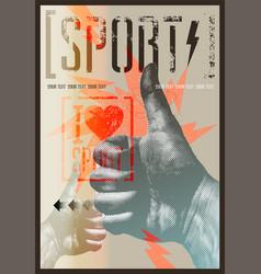 I love sport vintage grunge style sport poster vector