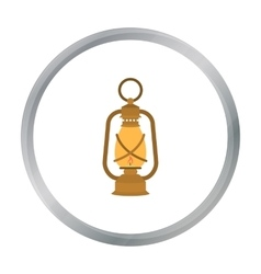 Lantern icon in cartoon style isolated on white vector