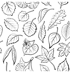 Leaves of Plants Pictogram Seamless vector image vector image
