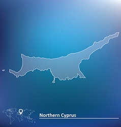 Map of Northern Cyprus vector image