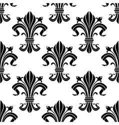 Medieval french floral seamless pattern vector
