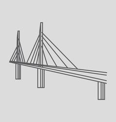 Millau bridge france vector