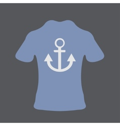 modern t-shirt on gray background vector image