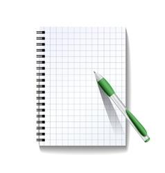 Notebook with a pen vector