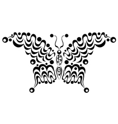 Ornamental butterfly 4 vector image