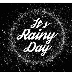Rainy sky vector image vector image