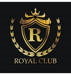 Royal club gold emblem design vector
