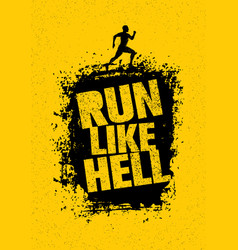 Run like hell motivation sport banner creative vector