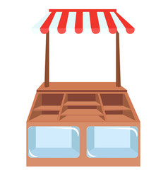 Shop showcases store shelves or vector
