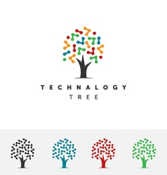 Technology tree logo vector