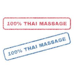 100 percent thai massage textile stamps vector