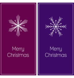 Minimalistic christmas greeting cards vector