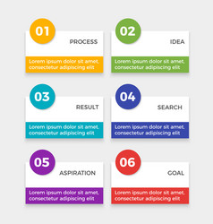 Infographic elements with steps process idea and vector