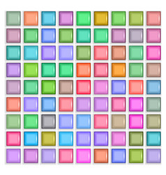 3d square mosaic vintage colorful texture vector