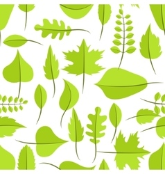 Spring green withered leaves seamless pattern vector