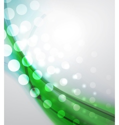 Abstract green wave vector