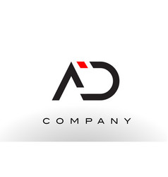 Ad logo letter design vector