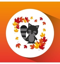 animals fall design vector image vector image