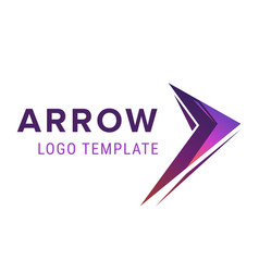 arrow logo template abstract business logo icon vector image