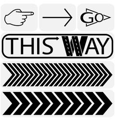 Arrow sign icon set vector image vector image