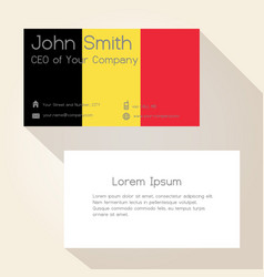 Belgium flag color business card design eps10 vector