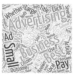 Best advertising for small business word cloud vector