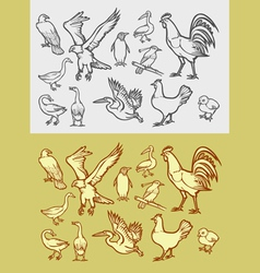 Bird sketch 1 vector image vector image